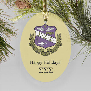Sigma Sigma Sigma Holiday Color Crest - Shield Ornament