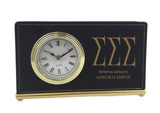 Sigma Sigma Sigma Horizontal Desk Clock