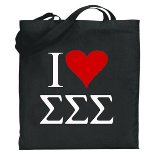 Sigma Sigma Sigma I Love Tote Bags