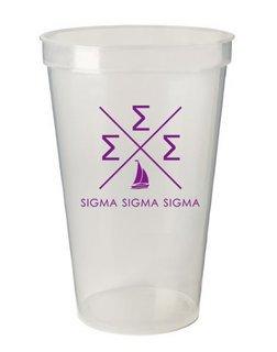 Sigma Sigma Sigma Infinity Giant Plastic Cup