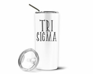 Sigma Sigma Sigma Inline Stainless Tumbler