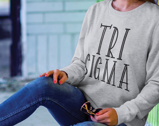 Sigma Sigma Sigma Inline Sweatshirt