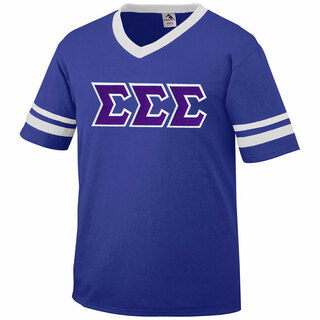 DISCOUNT-Sigma Sigma Sigma Jersey With Greek Applique Letters