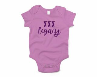 Sigma Sigma Sigma Legacy Baby Outfit Onesie