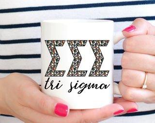 Sigma Sigma Sigma Leopard Mug