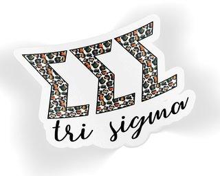 Sigma Sigma Sigma Leopard Sticker