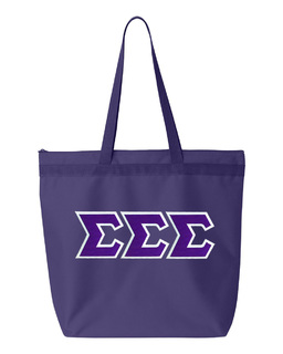 DISCOUNT-Sigma Sigma Sigma Lettered Game Day Tote