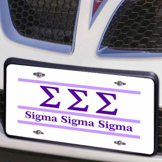 Sigma Sigma Sigma Lettered Lines License Cover