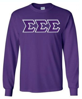 Sigma Sigma Sigma Lettered Long Sleeve Shirt