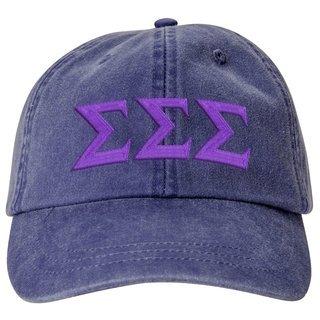 Sigma Sigma Sigma Lettered Premium Pastel Hat