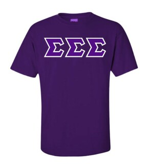 Sigma Sigma Sigma Sewn Lettered Shirts