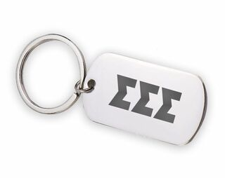 Sigma Sigma Sigma Letters Stainless Keychain