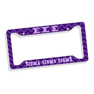 Sigma Sigma Sigma Custom License Plate Frame