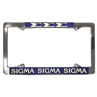 Sigma Sigma Sigma License Plate Frame