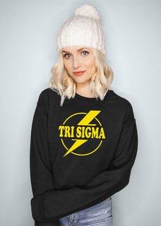 Sigma Sigma Sigma Lightning Crewneck Sweatshirt