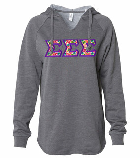 Sigma Sigma Sigma Lightweight California Wavewash Hooded Pullover Sweatshirt