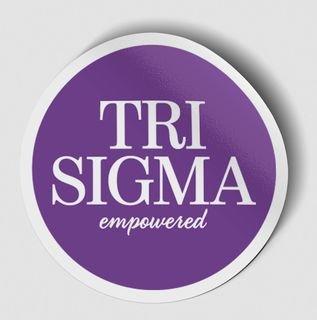 Sigma Sigma Sigma Logo Round Decal