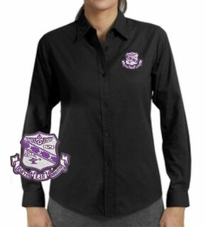 DISCOUNT-Sigma Sigma Sigma Long Sleeve Oxford