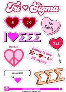 Sigma Sigma Sigma Love Theme Stickers