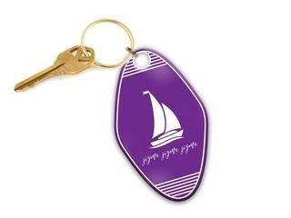 Sigma Sigma Sigma Mascot Motel Keychain