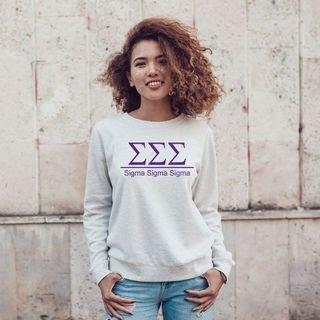 Sigma Sigma Sigma Message Sweatshirts