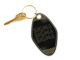 Sigma Sigma Sigma Modera Motel Keychain