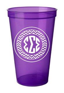 Sigma Sigma Sigma Monogrammed Giant Plastic Cup
