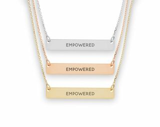 Sigma Sigma Sigma Motto Bar Necklace