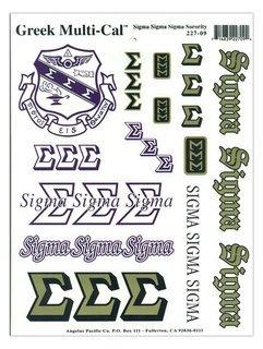 Sigma Sigma Sigma Multi Greek Decal Sheet