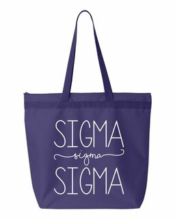 Sigma Sigma Sigma New Handwriting Tote Bag