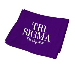 Sigma Sigma Sigma Mascot Sweatshirt Blanket