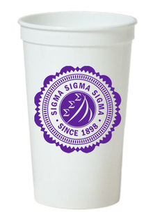 Sigma Sigma Sigma Old Style Classic Giant Plastic Cup
