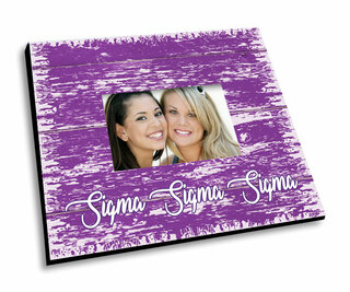 Sigma Sigma Sigma Painted Fence Picture Frame