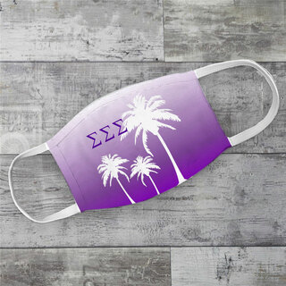 Sigma Sigma Sigma Palm Trees Face Mask