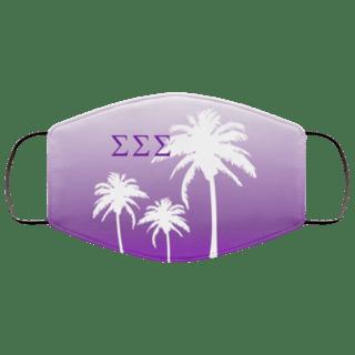 Sigma Sigma Sigma Palm Trees Face Mask