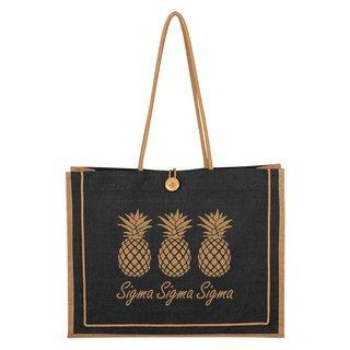 Sigma Sigma Sigma Paradise Jute Bag