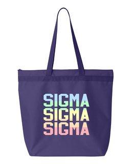 Sigma Sigma Sigma Pastel Tote Bag