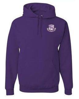Sigma Sigma Sigma Patch Crest  Hooded Sweatshirt