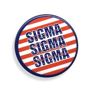 Sigma Sigma Sigma Patriotic USA Button