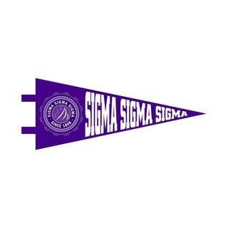 "Sigma Sigma Sigma Pennant Decal 4"" Wide"
