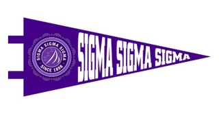 Sigma Sigma Sigma Pennant Decal Sticker