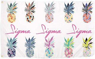 Sigma Sigma Sigma Pineapple Flag
