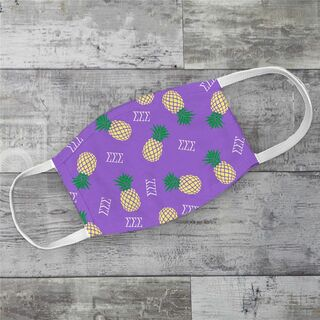 Sigma Sigma Sigma Pineapples Face Mask