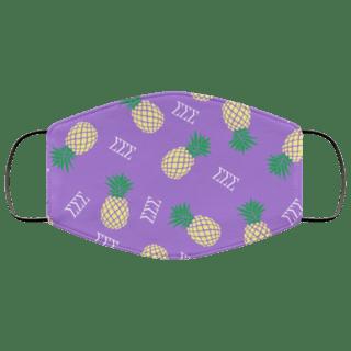 Sigma Sigma Sigma Pineapples Face Mask