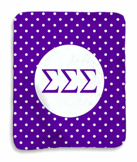 Sigma Sigma Sigma Polka Dots Sherpa Lap Blanket