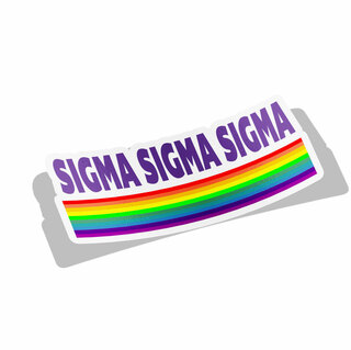 Sigma Sigma Sigma Prism Decal Sticker