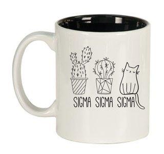Sigma Sigma Sigma Purrrfect Sorority Coffee Mug