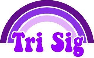 Sigma Sigma Sigma Rainbow Decals
