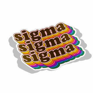 Sigma Sigma Sigma Retro Maya Decal Sticker