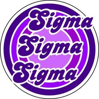 Sigma Sigma Sigma Retro Round Decals